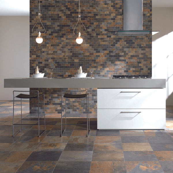 Kitchen Floor Tiles California Gold Slate