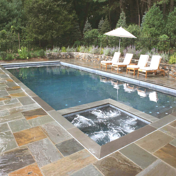 Stone Coping Pool Surround
