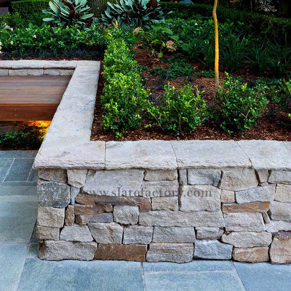 stone-facade-planter-box-beach-sandy-ledgestone