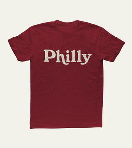 The '80 Tee in Maroon