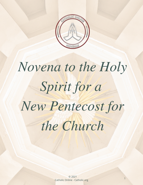 Novena Prayer to the Holy Spirit for a New Pentecost for the Church