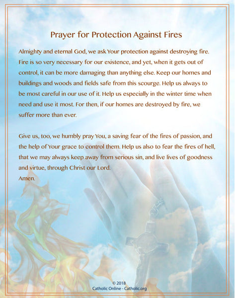 Prayer for Protection Against Fires (PDF)