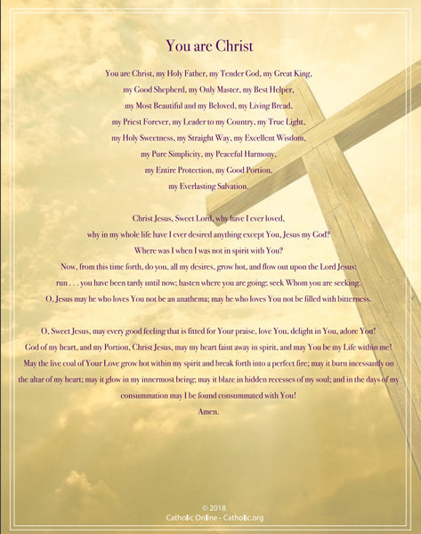 You Are Christ w/ Cross (PDF)
