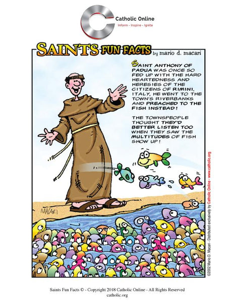 St. Anthony of Padua - Saints Fun Facts