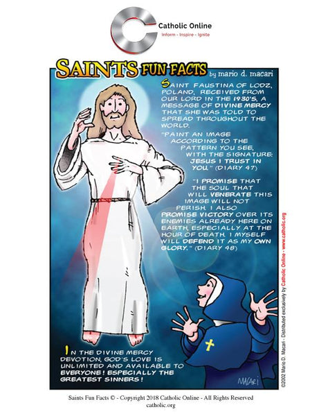 St. Faustina of Lodz - Saints Fun Facts