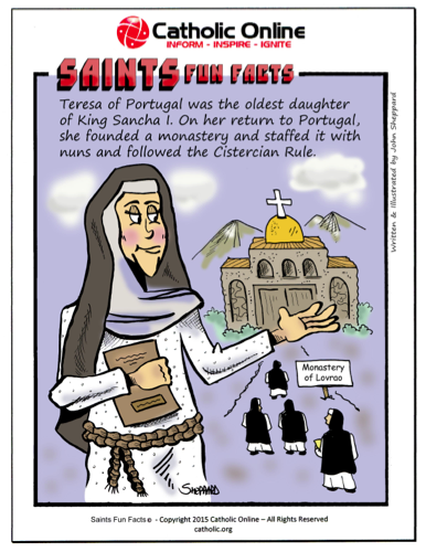 St. Teresa of Portugal - Saints Fun Facts