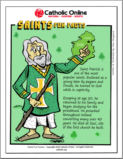 St. Patrick - Saints Fun Facts