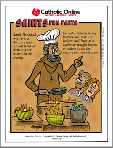 St. Benedict - Saints Fun Facts