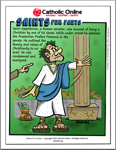 St. Apollonius - Saints Fun Facts