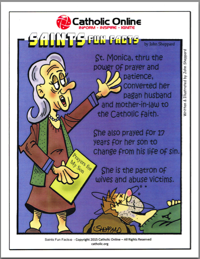 St. Monica - Saints Fun Facts