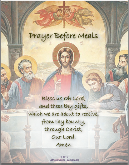 Prayer Before Meals