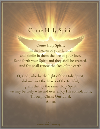 Come Holy Spirit Prayer