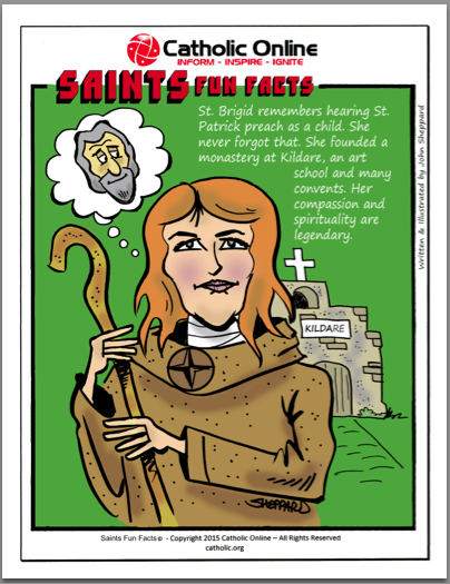 St. Brigid - Saints Fun Facts