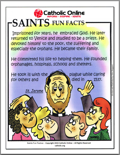 St. Jerome - Saints Fun Facts