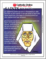 St. Katherine Drexel - Saints Fun Facts