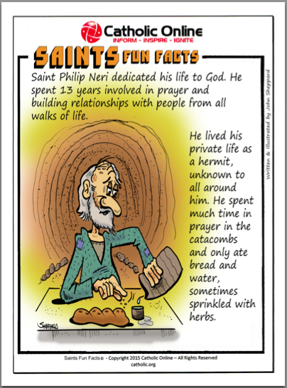 St. Philip Neri - Saints Fun Facts