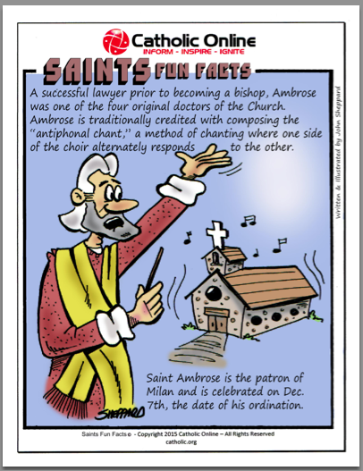 St. Ambrose - Saints Fun Facts