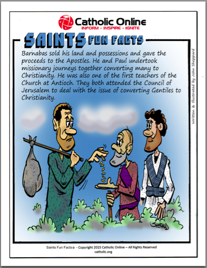 St. Barnabas - Saints Fun Facts