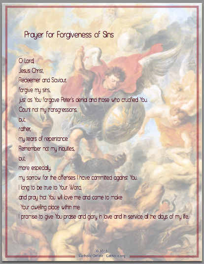 Prayer for Forgiveness of Sins