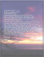 A Night Prayer