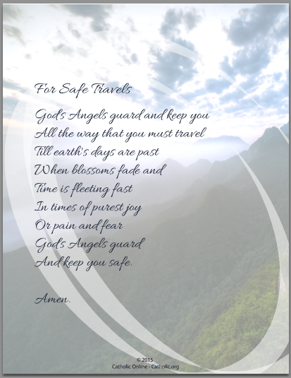 Prayer For Safe Travels