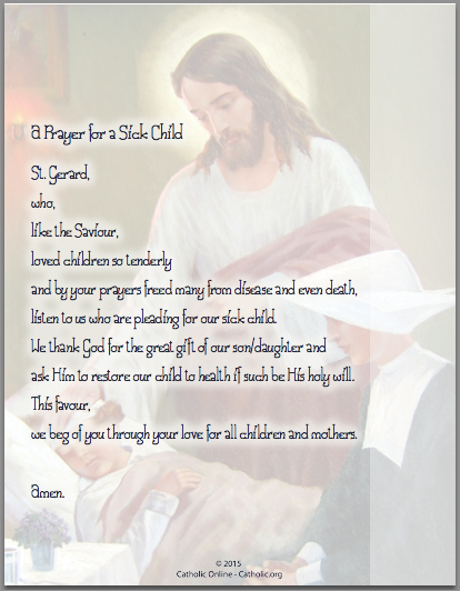 A Prayer for a Sick Child
