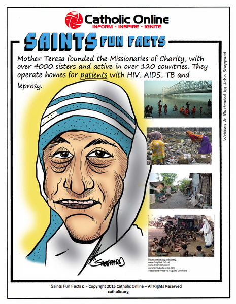 St. Teresa of Calcutta / Mother Teresa - Saints Fun Facts
