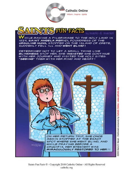St. Angela Merici - Saints Fun Facts