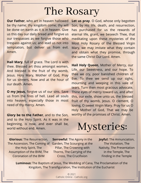 The Rosary including Mysteries of the Rosary