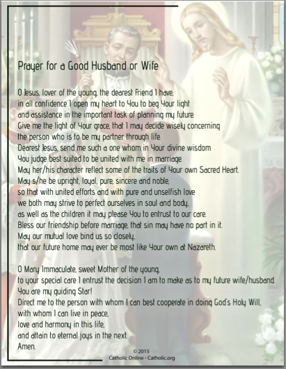 Prayer For a Good Husband or Wife