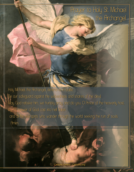 Prayer to Holy St. Michael the Archangel
