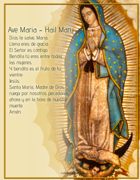 Ave Maria - Hail Mary