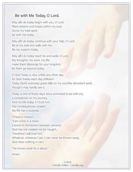 Be with Me Today, O Lord (PDF)