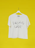Camiseta crudo COSMIC LOVE constelaciones