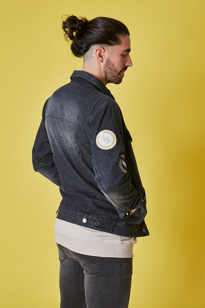 Cazadora denim H.E. parches & Bordado personalizado