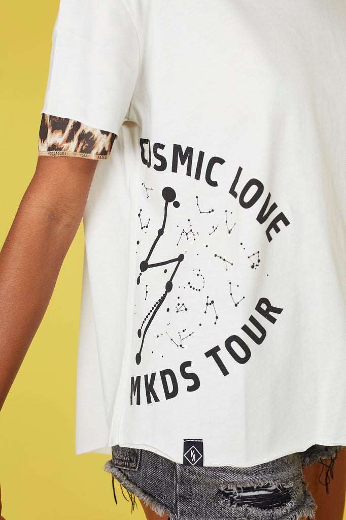 Camiseta COSMIC LOVE MKDS TOUR manga doble crudo & print