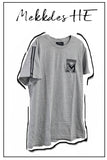 Camiseta HE parches gris