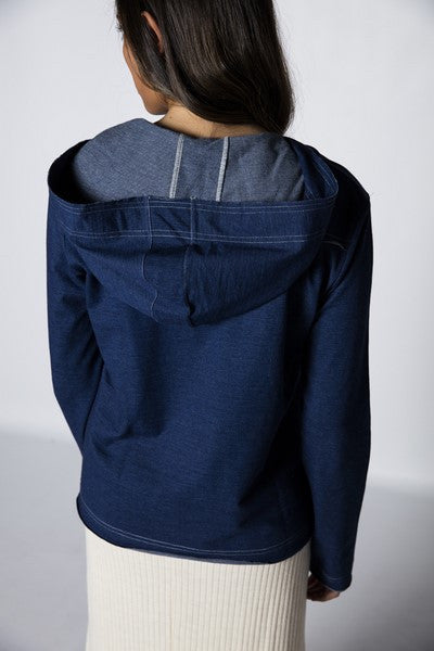 Sudadera Lace-up Denim