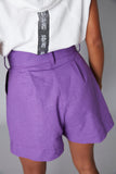 Short volumen lino morado