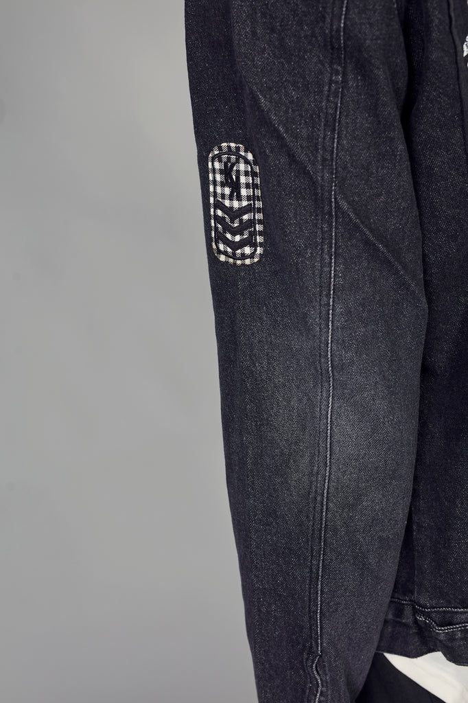 Cazadora denim HE JAN´S BAND & vichy