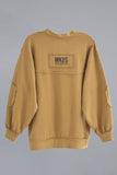 Sudadera oversized parches CAMEL