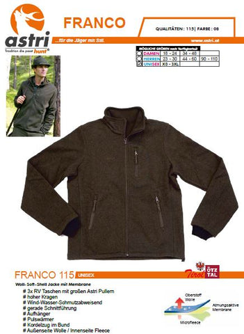 Astri FRANCO Woll-Wind-Fleece