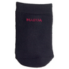 MABUA Black Women Seamless Toe Topper Liner Socks 4 Pairs.