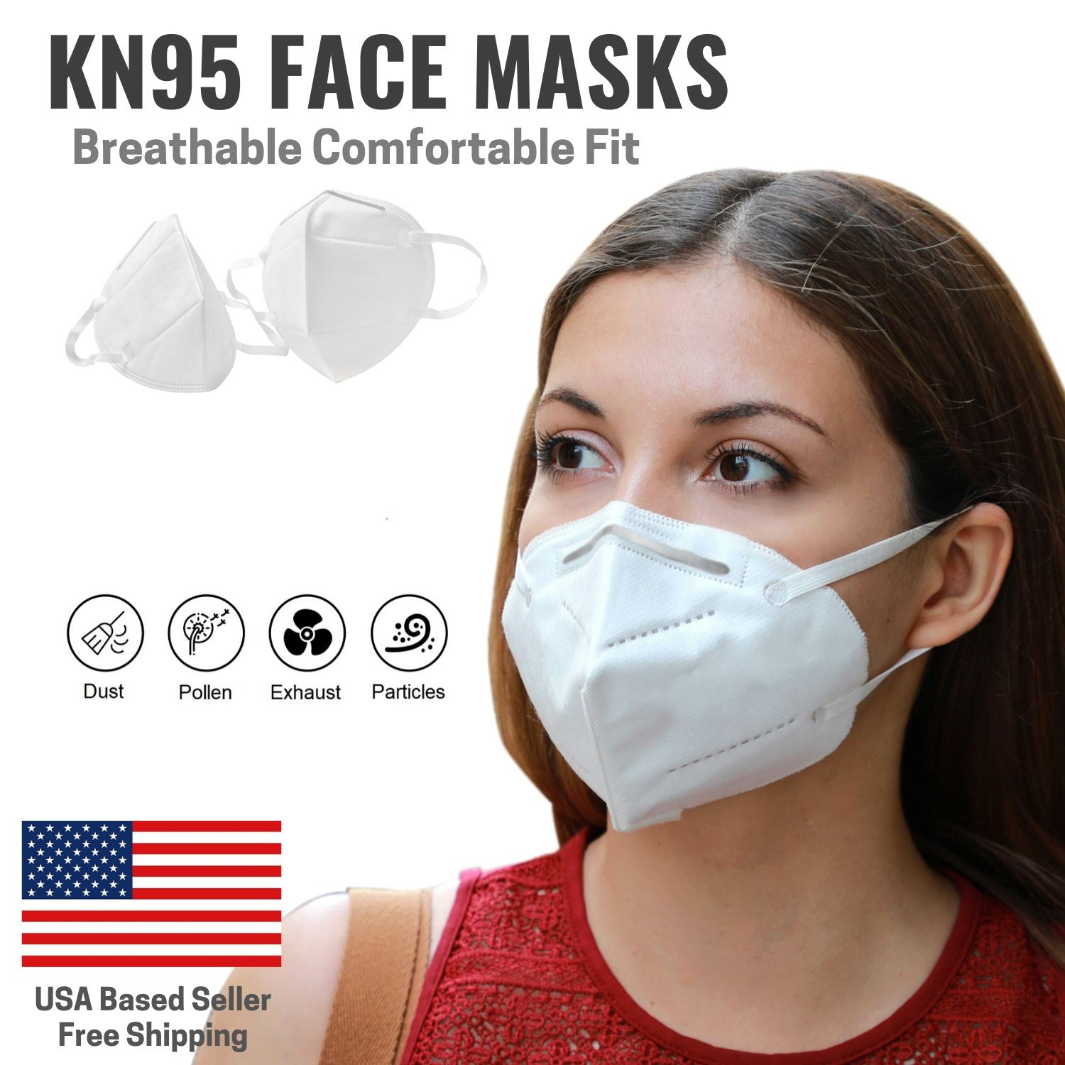 Facial Protection Filtration, Anti-fog, Dust-proof Adjustable safety Full Face Masks [10 Pack]