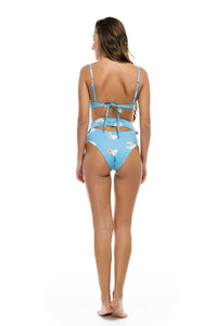 "High Waisted Bikini ""Cloudy Eggs"""
