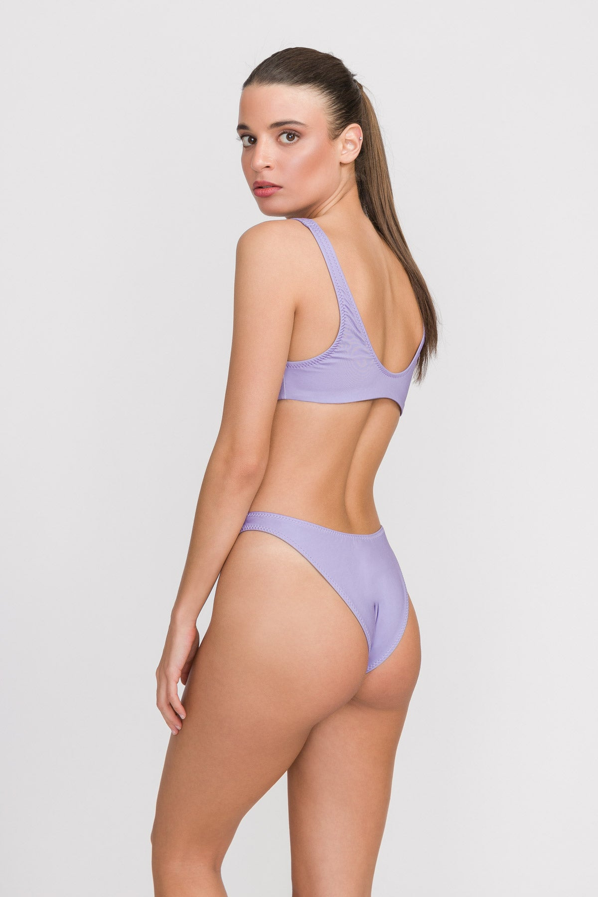 "High Cut Bikini ""Lilac Waves"""