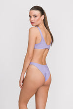 "Load image into Gallery viewer, High Cut Bikini ""Lilac Waves"""