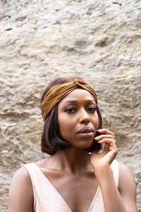 Bronze Turban Headband