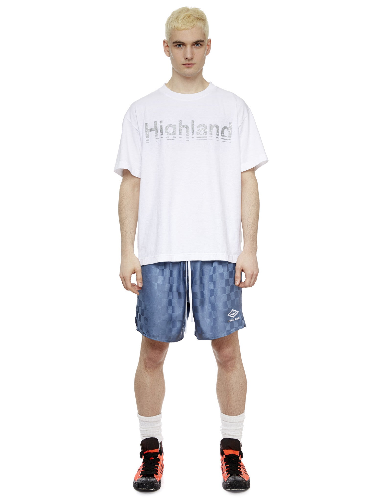 S/S Logo T-Shirt in White/Silver