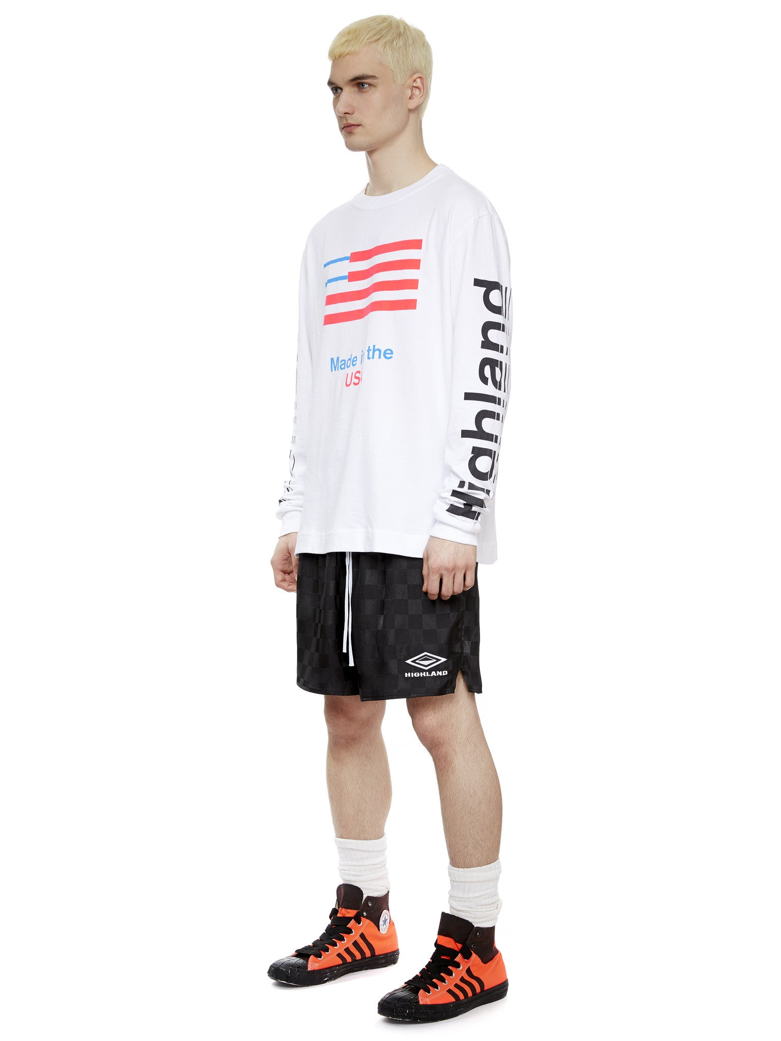 L/S Logo T-Shirt in White